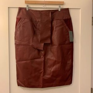 Melissa McCarthy Seven7 Faux Leather Pencil Skirt